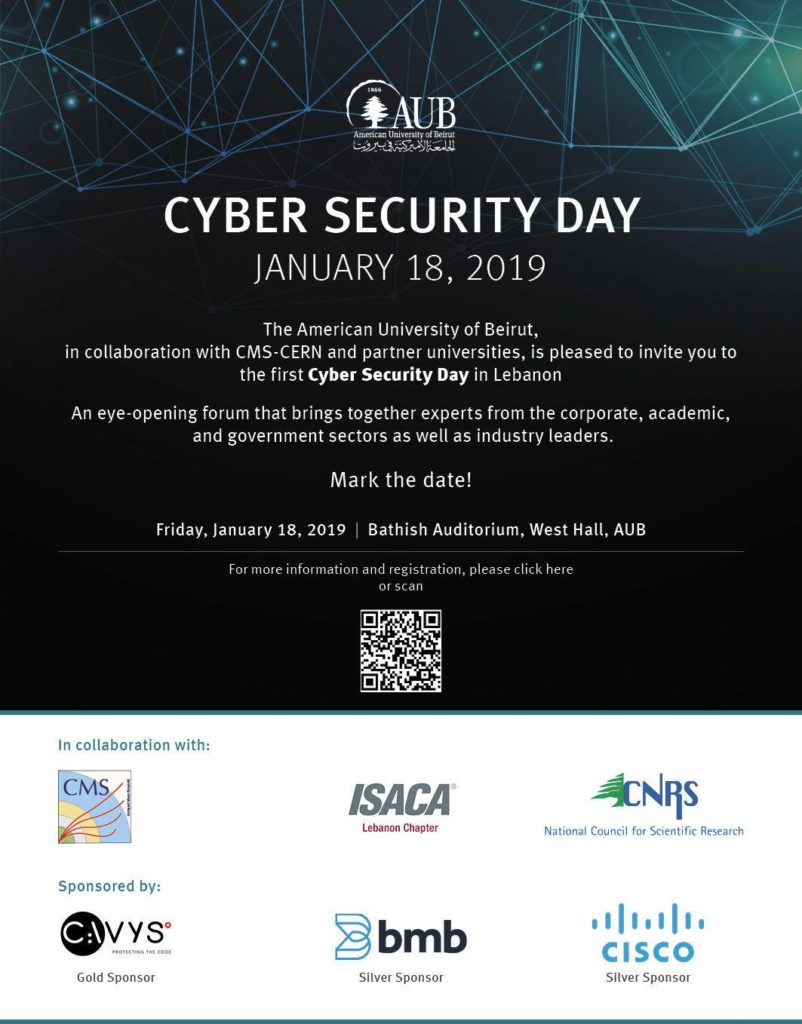 BMB sponsors AUB's Cyber Security Day 2019